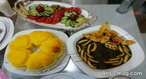 تزیین ظرف غذا