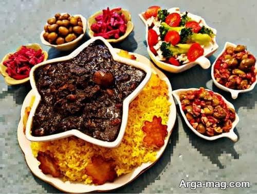 تزیین زیبا ظرف غذا