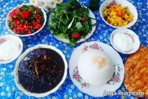 تزئین غذا برای دو نفر