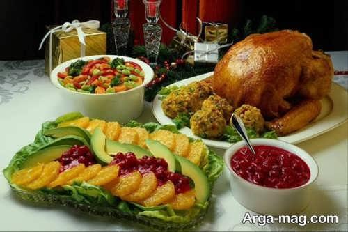 تزیین غذا برای دو نفر