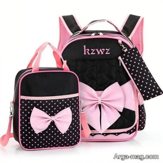 طرح زیبا و رنگی کیف مدرسه ای