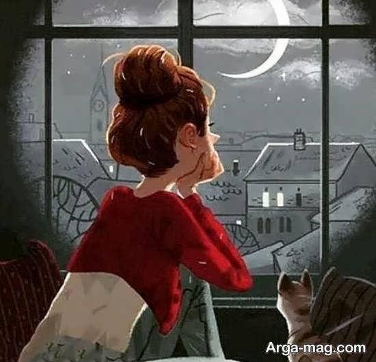 نمونه های رمانتیک و احساسی عکس انیمیشنی دخترانه