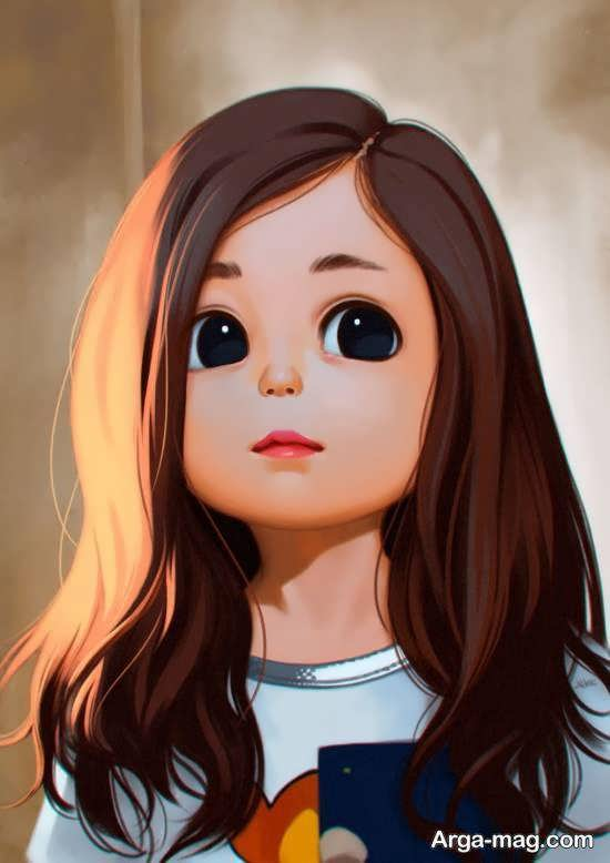 ایده های زیبا و شیک عکس کارتونی دخترانه