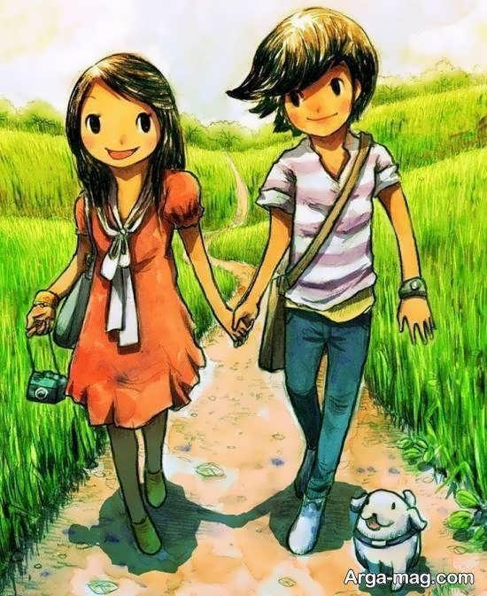 ایده های عاشقانه و فانتزی عکس انیمیشنی دخترانه