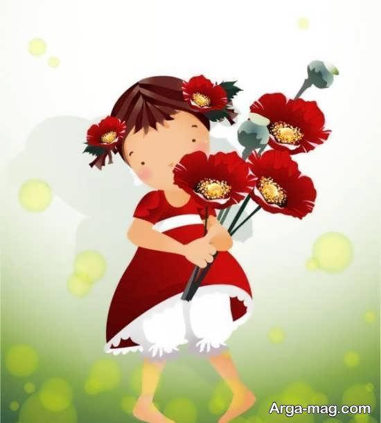 نمونه های زیبا و جذاب تصویر کارتونی دخترانه برای زیباسازی پروفایل