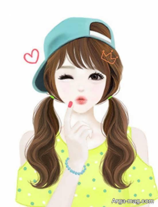 نمونه های شیک و جذاب عکس انیمیشنی دخترانه