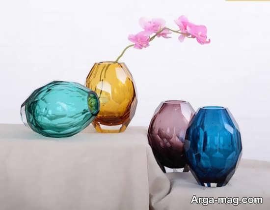 تزئینات گلدان شیشه ای