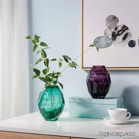 تزئین شیک گلدان شیشه ای