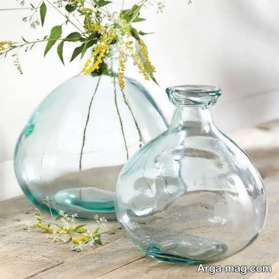 دیزاین گلدان شیشه ای
