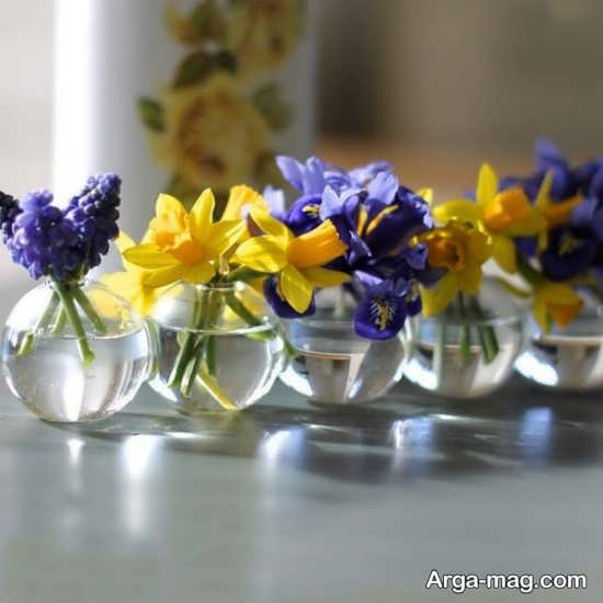 تزیین گلدان شیشه ای+عکس