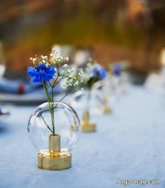 تزئین گلدان شیشه ای