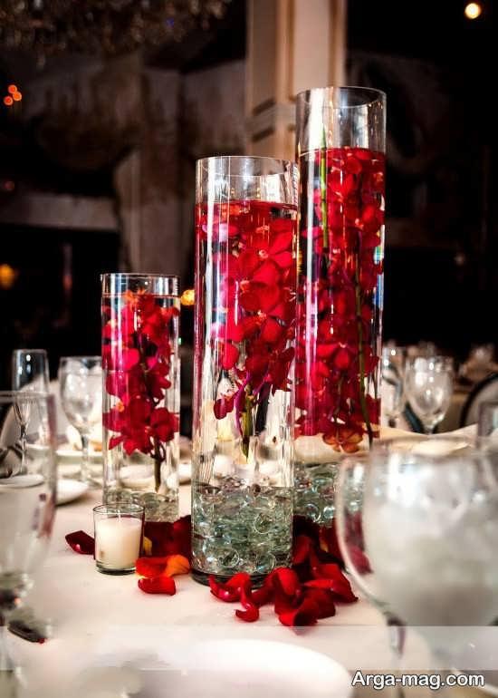 تزئین و طراحی گلدان شیشه ای