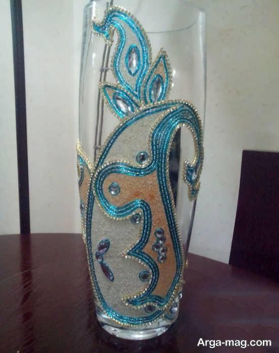 تزئین خاص گلدان شیشه ای