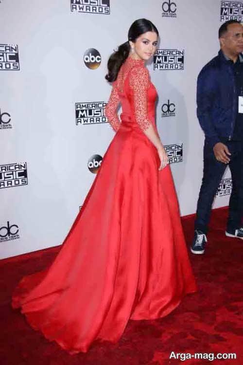 لباس شب قرمز سلنا گومز