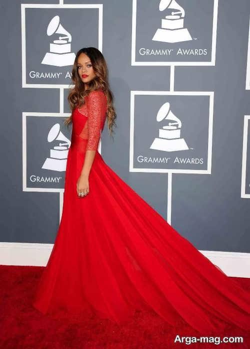 لباس قرمز ریحانا