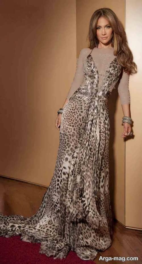 مدل لباس شب پلنگی