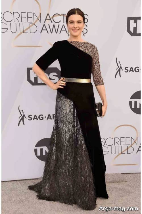 مدل لباس شب بلند ریچل وایس