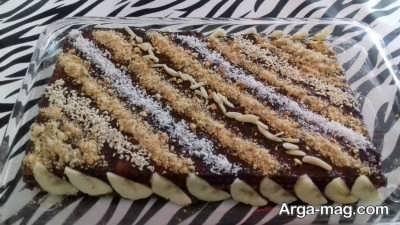 تهیه کیک یخچالی موزی با روشی ساده