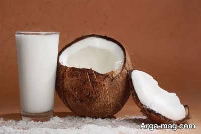 تصویر درست کردن شیر نارگیل