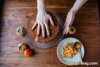 درست کردن کیک خرمالو