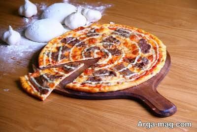 دستور تهیه پیتزای سیر و استیک