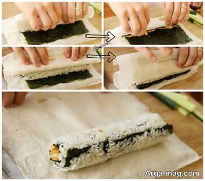 طرز تهیه سوشی با سه روش متفاوت