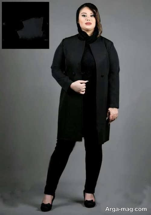 مدل مانتوی ساده و مشکی زنانه