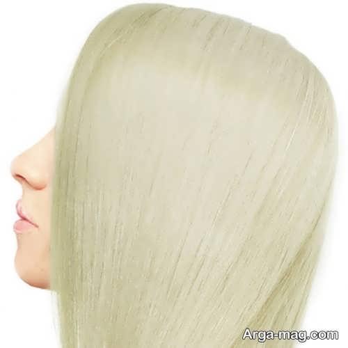 رنگ موی بلوند زیتونی