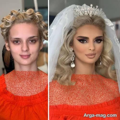 آرایش شیک عروس