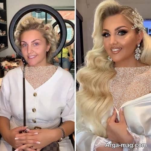 مدل میکاپ قبل و بعد عروس