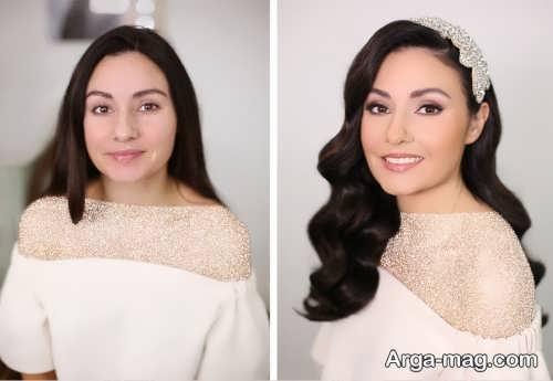 مدل آرایش شیک برای عروس