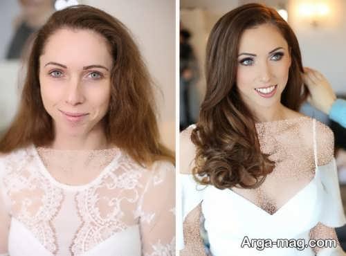 مدل آرایش صورت برای عروس