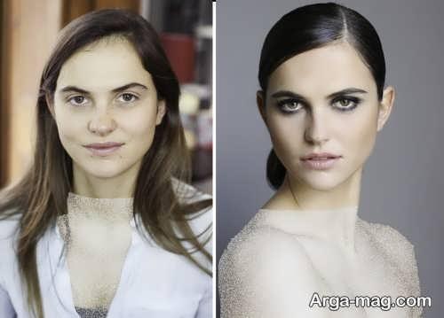 مدل آرایش لایت برای عروس