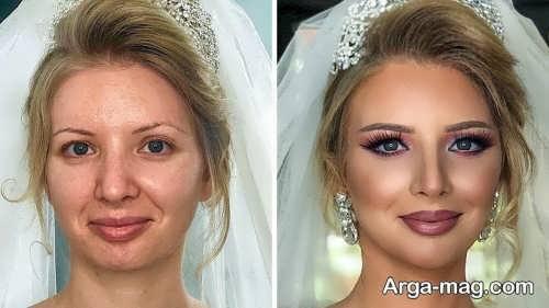 آرایش لایت عروس با متدهای زیبا