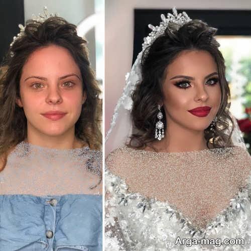 مدل میکاپ شیک و زیبا برای عروس