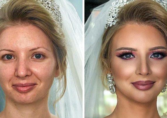 آرایش قبل و بعد عروس