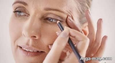 آرایش چشم برای خانم های مسن