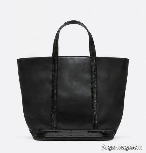 کیف چرم مشکی زنانه