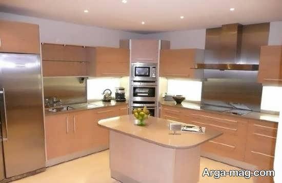 مجموعه مدل زیبا و جذاب دکوراسیون داخلی آشپزخانه آریایی