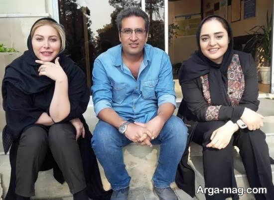 نرگس محمدی و همکاران وی در پشت صحنه