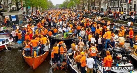 سرزمین هلند دارای زمستان های یخبندان و طولانی