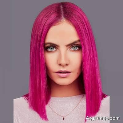 رنگ مو زیبا صورتی