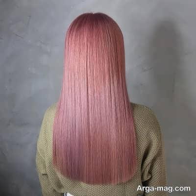 رنگ مو شیک صورتی