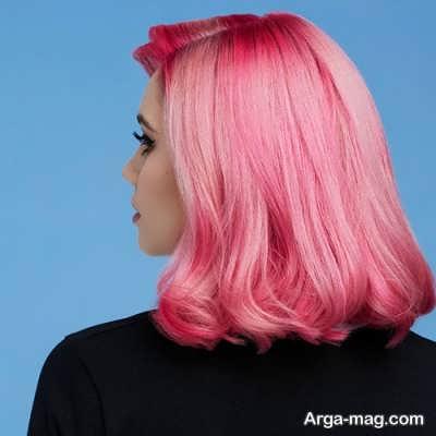 رنگ مو صورتی