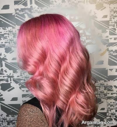 رنگ موی زیبا صورتی