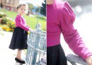مدل آستین پفی برای لباس بچگانه