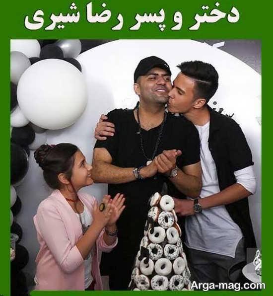 عکس خانوادگی زیبا رضا شیری