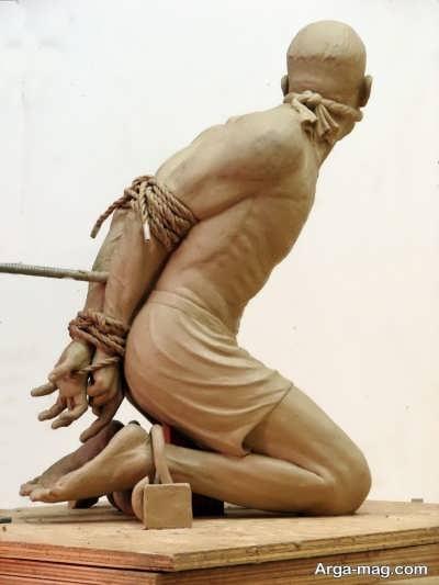 ساخت مجسمه با سنگ و گچ