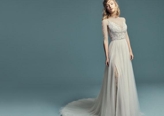 مدل لباس عروس چاکدار
