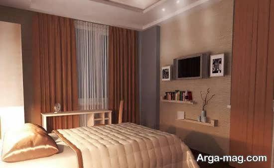 انواع دکوراسیون اتاق خواب کوچک و کم عرض زیبا